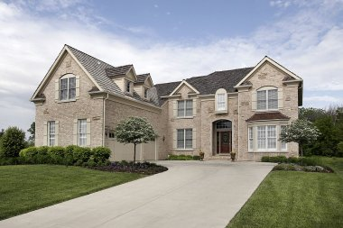Luxury suburban brick home