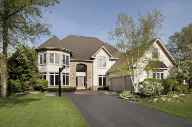 Front view of luxury home