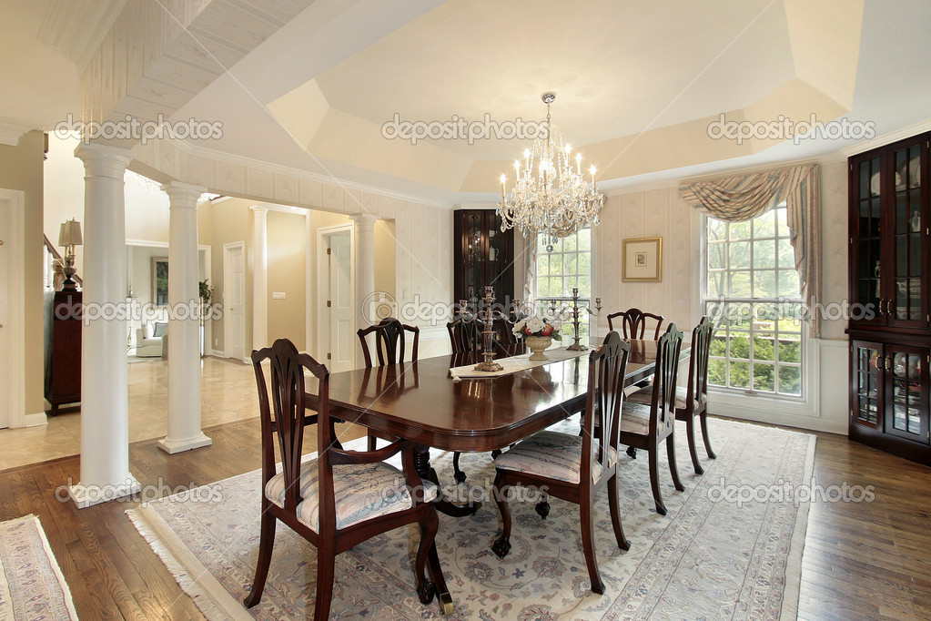dining room with columns — stock photo © lmphot #8710233