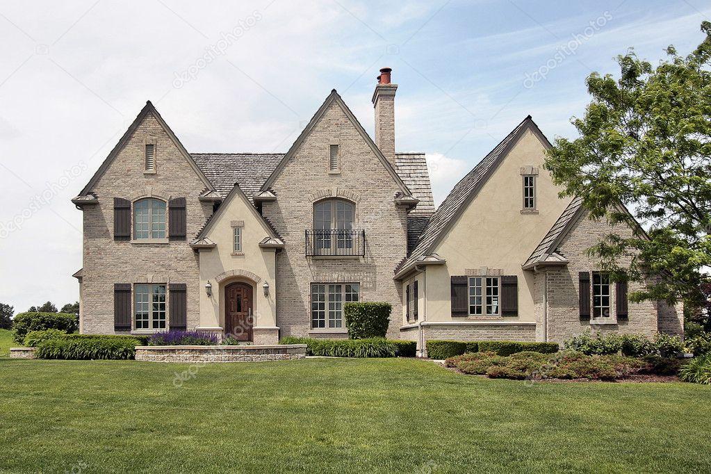 Large brick suburban home