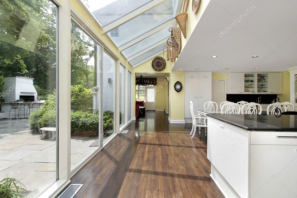 Kitchen With Patio View Stock Photo C Lmphot 8716641