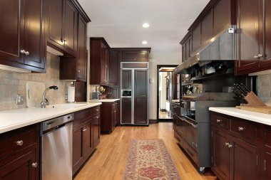 Wood cabinet kitchen