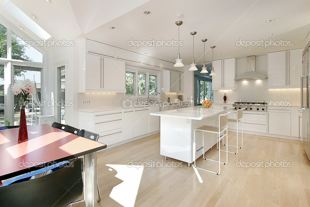 cucina bianco lucido — Foto Stock © lmphot #8727561