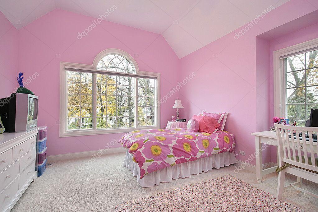 Фотообои Номер розовый девушки