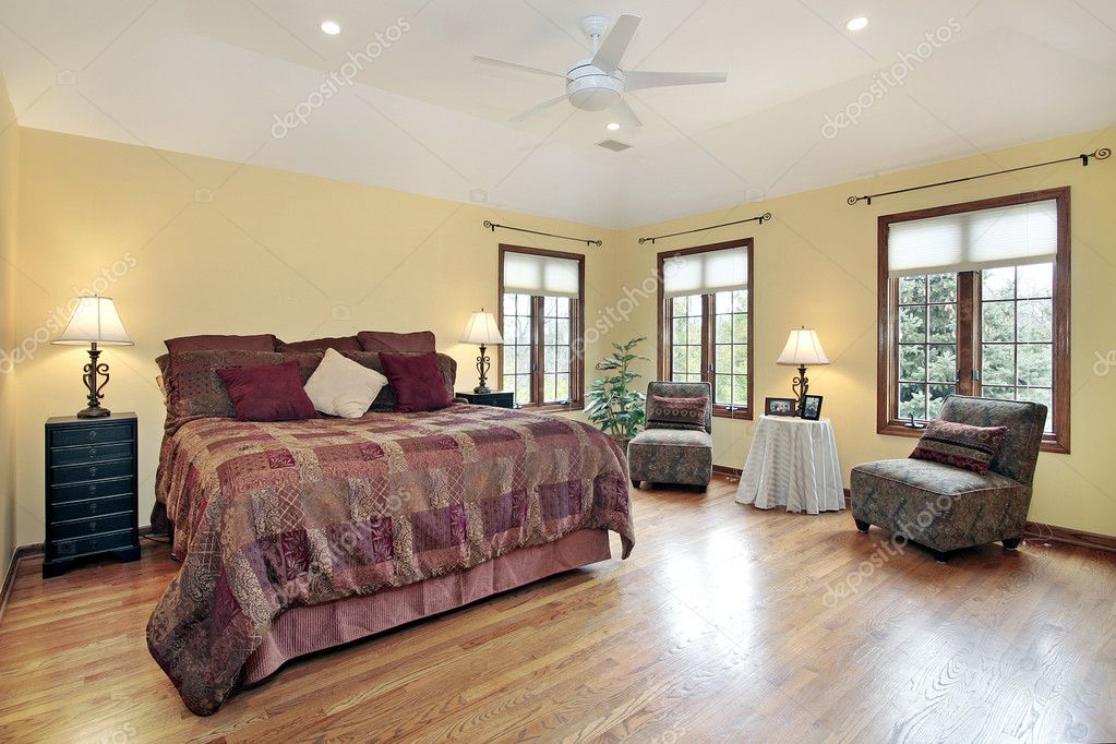 Pictures : bedroom windows | Master bedroom with wood trim ...
