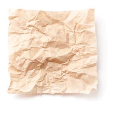 Crumpled piece of old paper stock vector