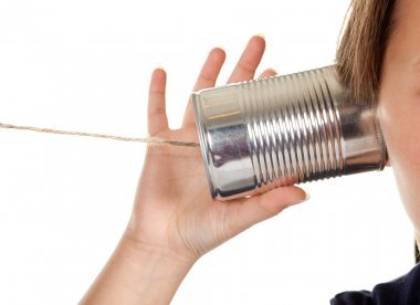 Phone call with a can