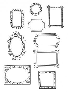Doodle style vintage frames