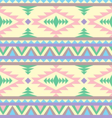 Seamless indian pattern in pastel tints