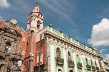 Belen Church and Army museum in Puebla (Mexico)