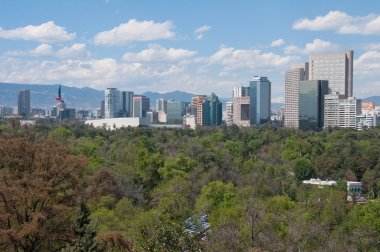Mexico City skyline from Chapultepec castle