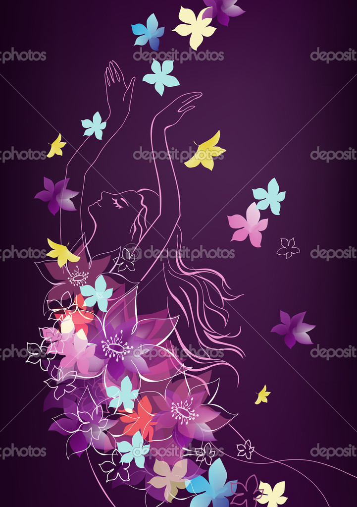 Spring vector background for your design