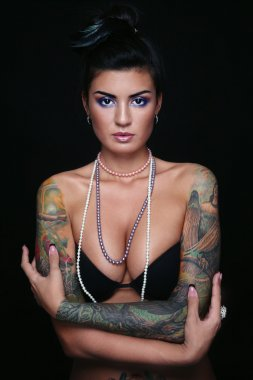 Sexy girl with tattoo