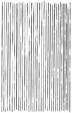 Abstract Black lines on white