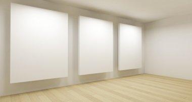 """Картина, постер, плакат, фотообои """"Medical room, 3d art with empty space"""", артикул 10112242"""