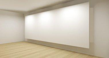 "Картина, постер, плакат, фотообои ""Clean gallery with white backdrop, 3d art"", артикул 10112263"