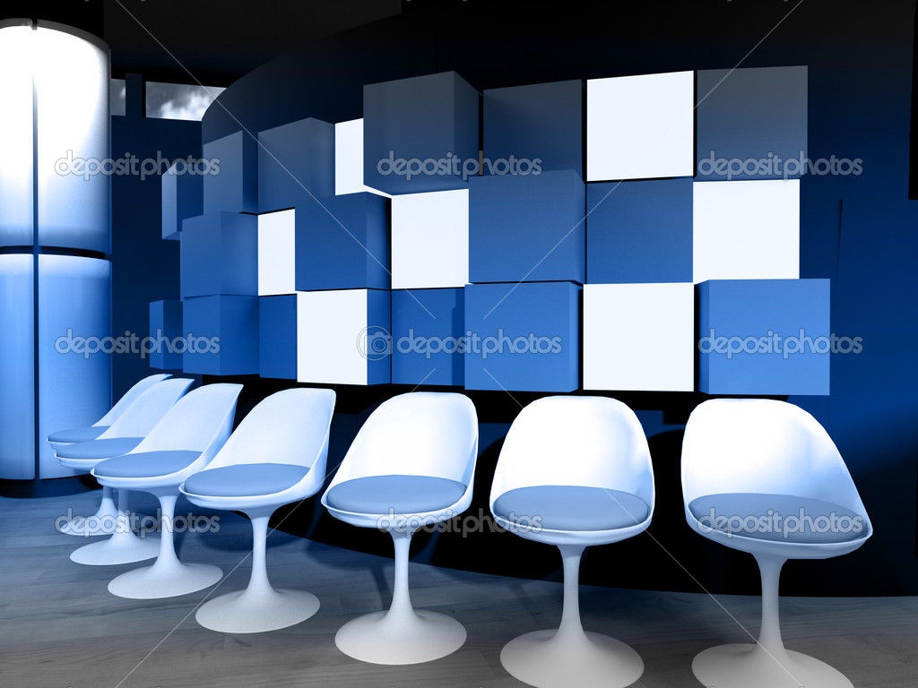 Sedie sala attesa bianco ospedale u foto stock outsiderzone