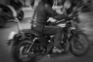 Powerful vintage motorcycle