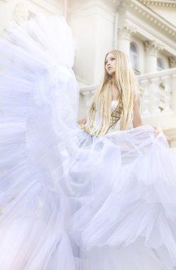 Cinderella in a white dress