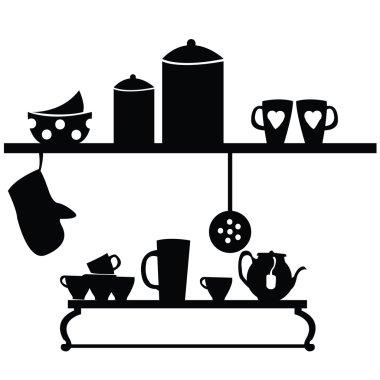 Kitchen set on black