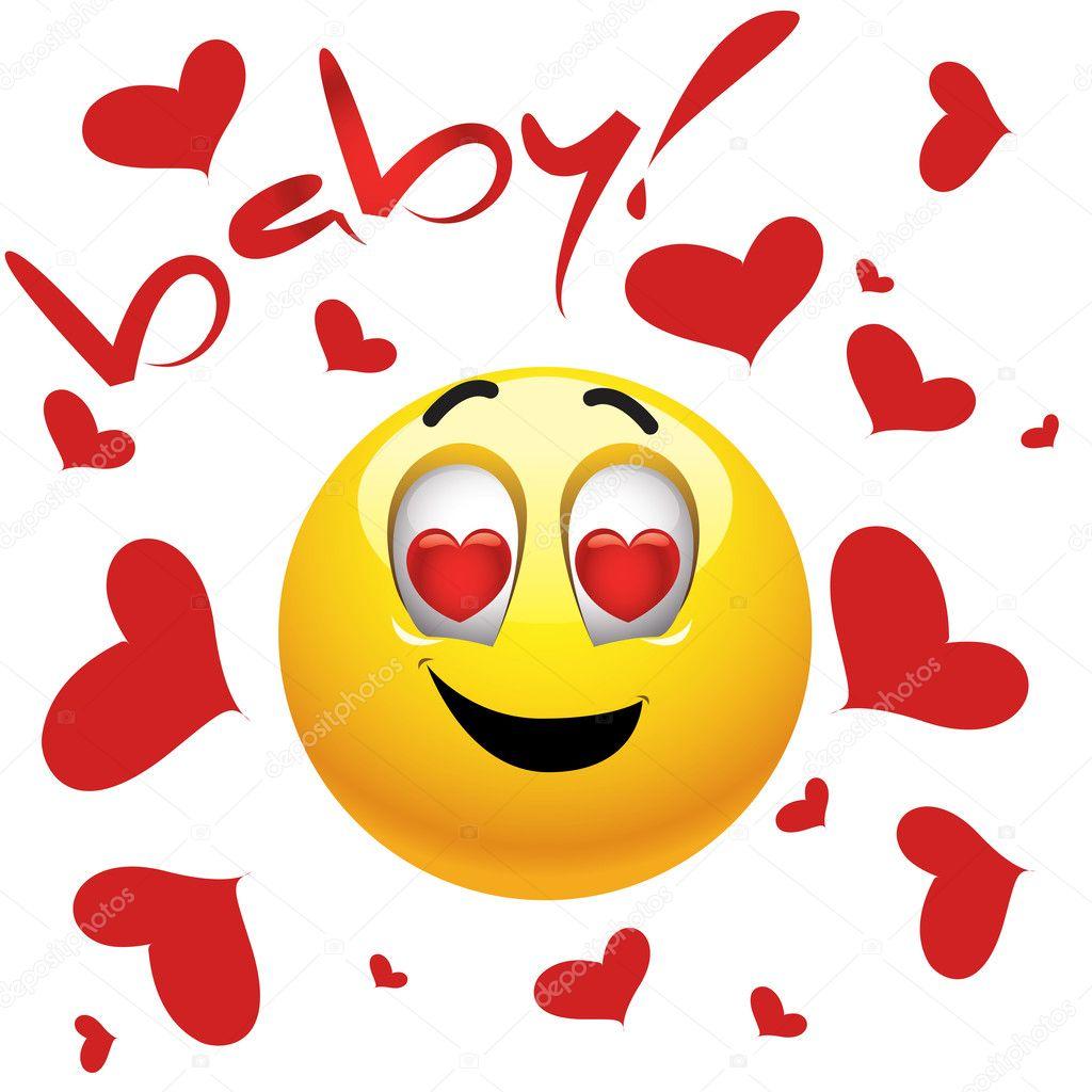 Vecteurs Pour Smiley Amoureux Illustrations Libres De Droits Pour Smiley Amoureux Depositphotos