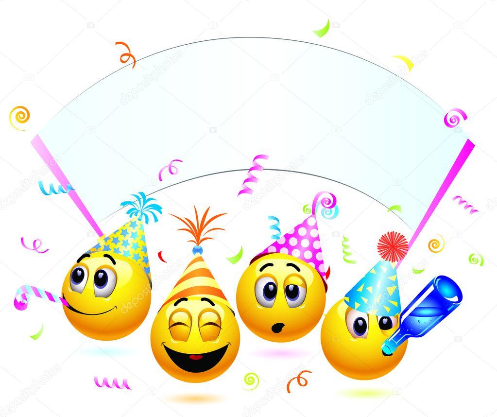 smiley feiern
