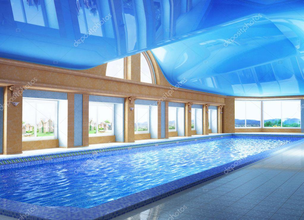 Inside House Pool pool inside the house — stock photo © artyustudio #8688540