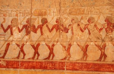 Picture in the temple of Queen Hatshepsut (Egypt)