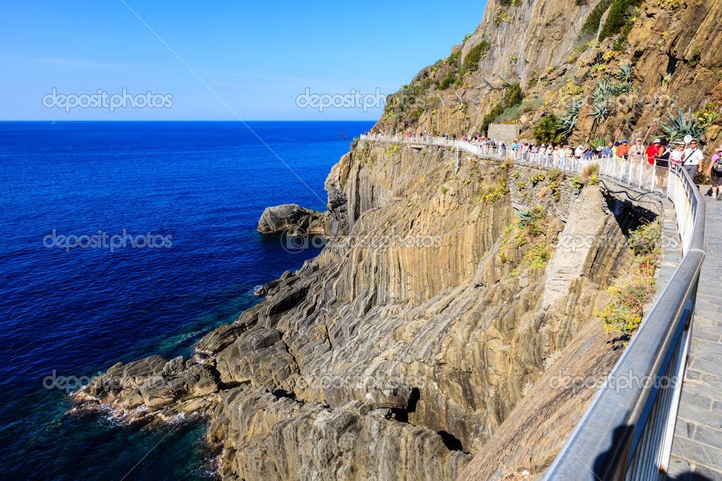 Love Road between Manarola and Riomaggiore in Cinque Terre, Ital