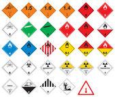 Fotografia pittogrammi pericolosi - segni di merci