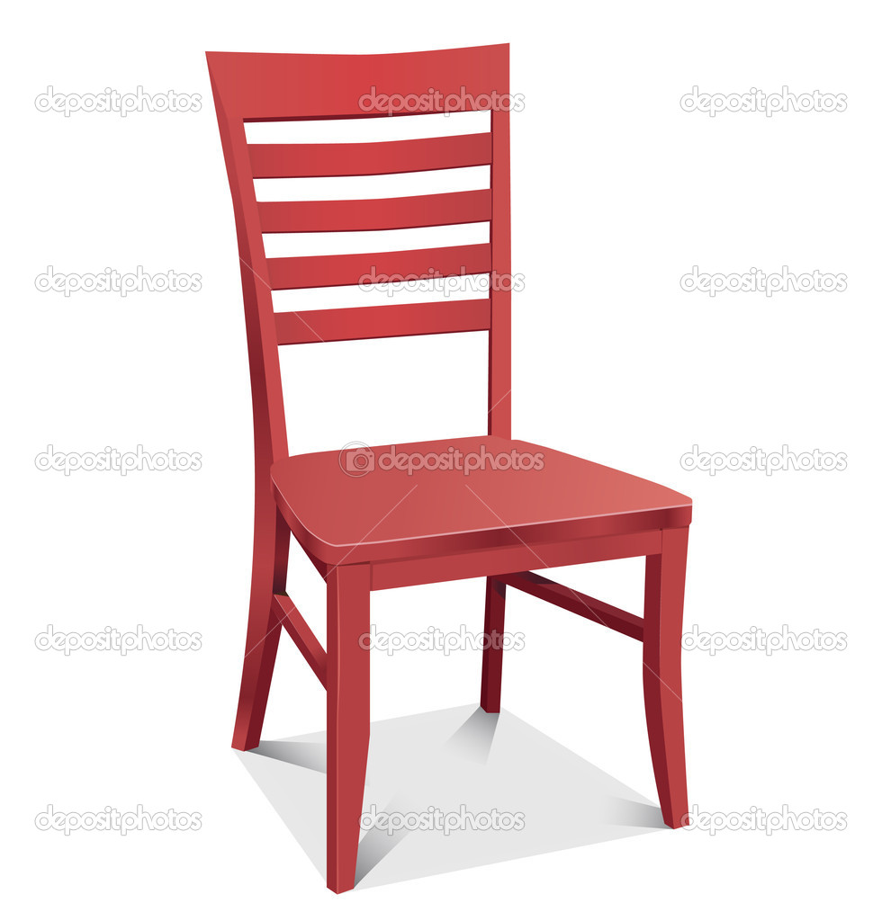 Chair red classic detailed vector illustration — Stock ...