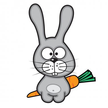 Funny cartoon rabbit