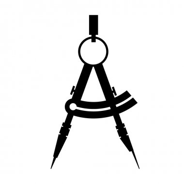 Compass. icon black and white vector illustration