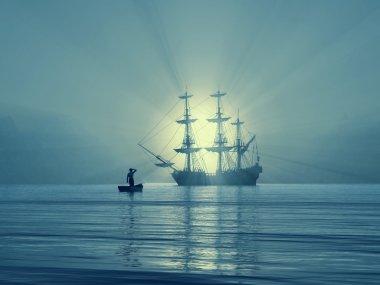 Ancient vessel in Gulf