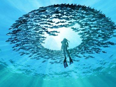 """Картина, постер, плакат, фотообои """"глаза океана постеры животные"""", артикул 9467043"""