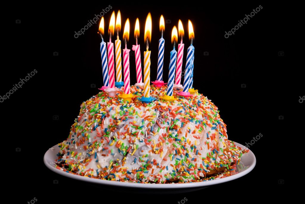 Awesome Birthday Cake With Candles Stock Photo C Rrrneumi 8812925 Funny Birthday Cards Online Chimdamsfinfo