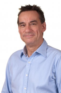 Portrait of Smiling Attractive Middle Age Man