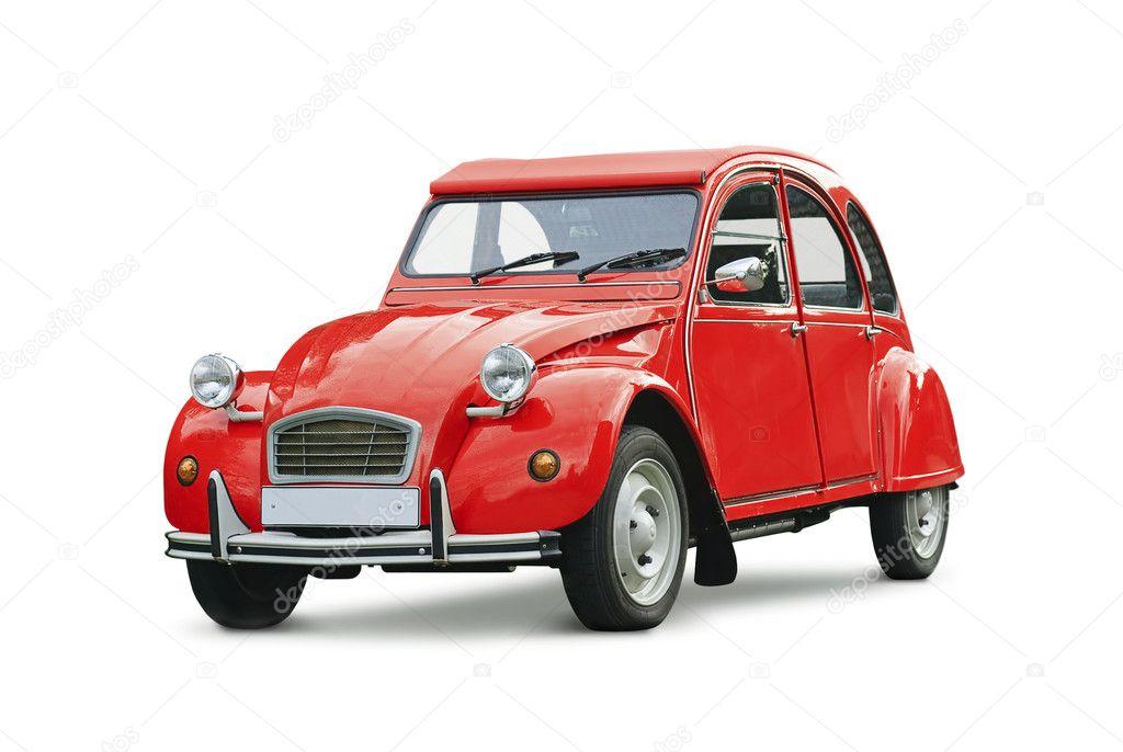 Classic red retro car