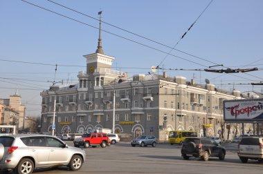 House under the steeple. Barnaul.