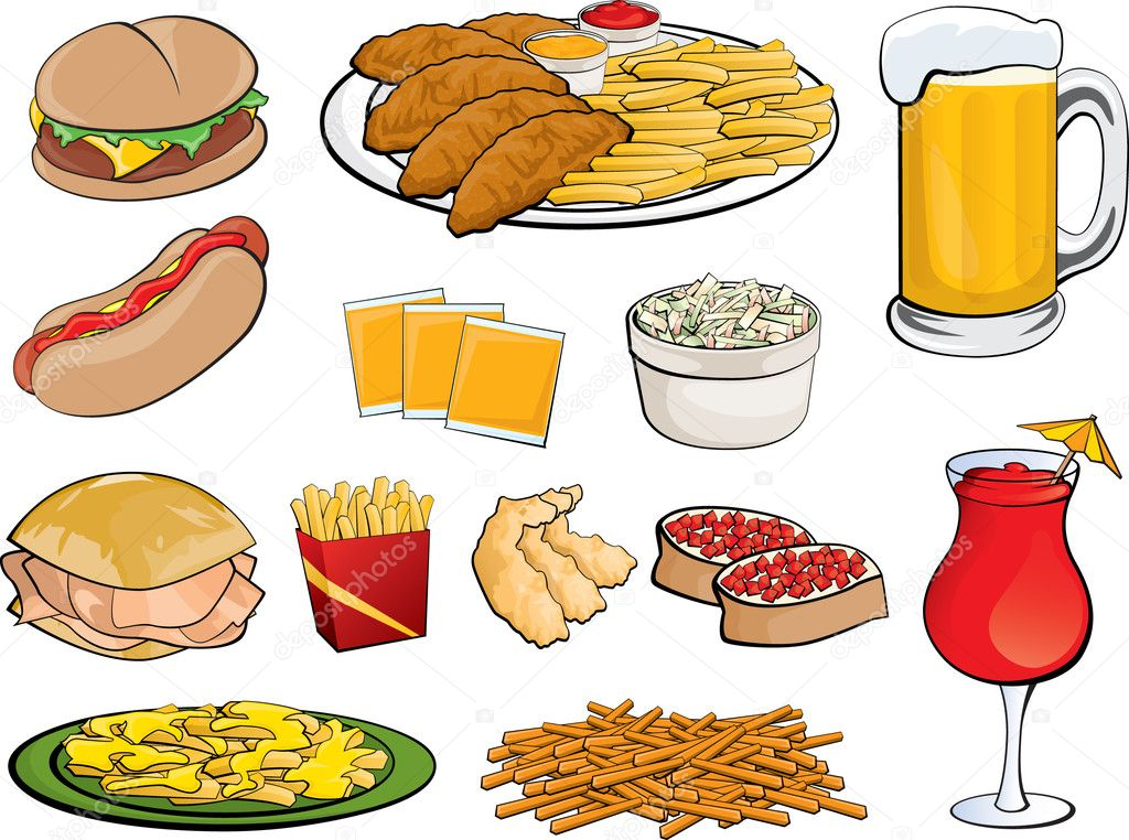 クリップ アート食べ物素材 ストックベクター Joeiera 8809781