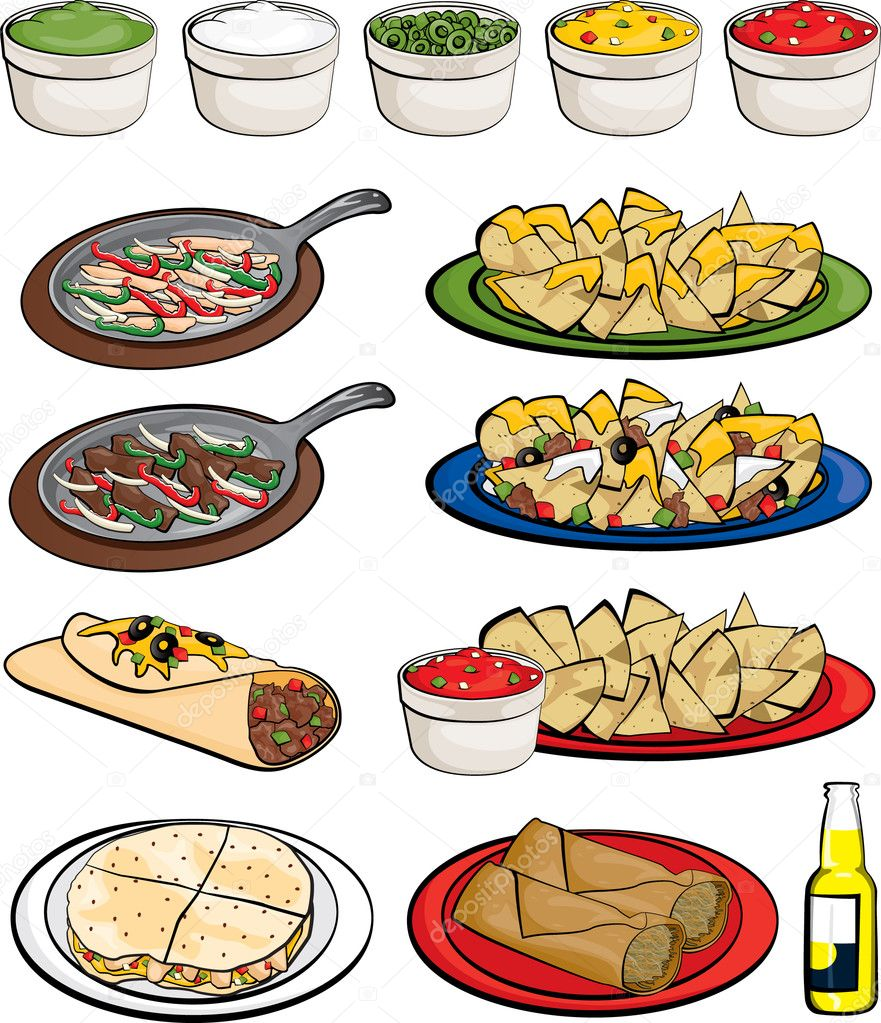 mexican food clipart stock vector joeiera 8898269 rh depositphotos com mexican food clip art images mexican street food clipart