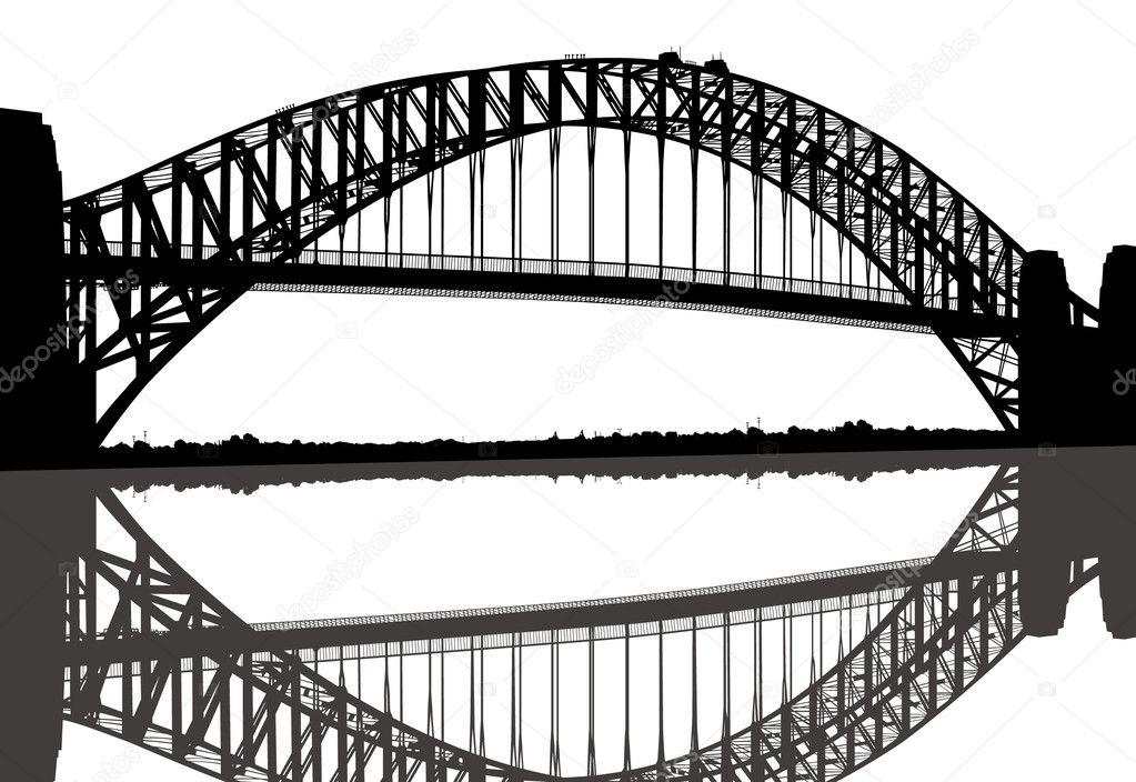 sydney harbour bridge  u2014 stock vector  u00a9 joeiera  8898569