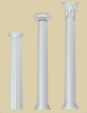 Greek columns with details