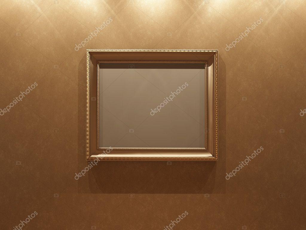 Frame an Stuck-Wand — Stockfoto © kuzmich #8825851
