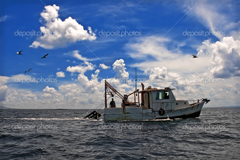 Towing Boat - Fishing boat