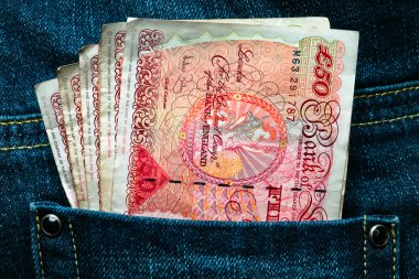 Fifty pounds in a pocket