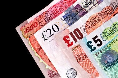 UK Currency paper money - Banknotes.