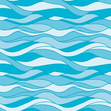 Seamless pattern water