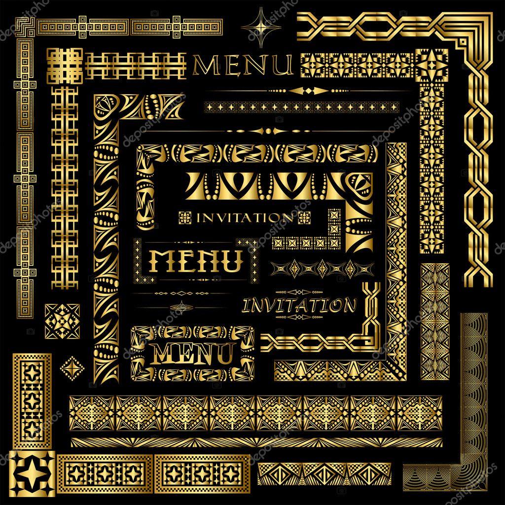 Gold border elements