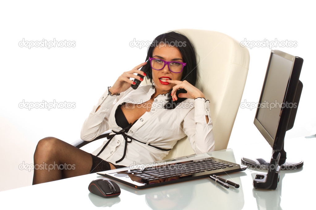 sexy secretary at work